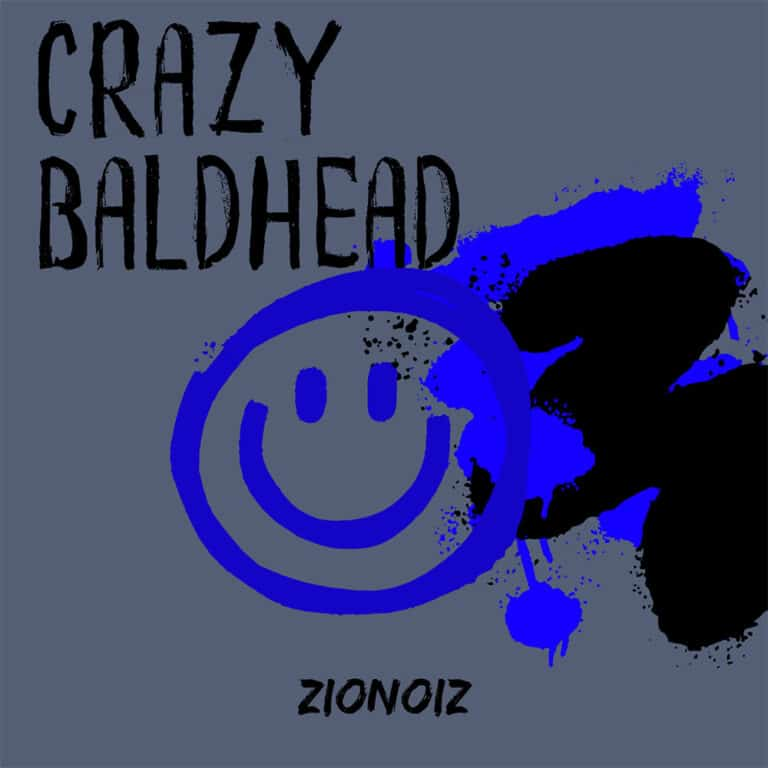 Blauw Zwart Album Cover Muziek Olli Pop Smiley