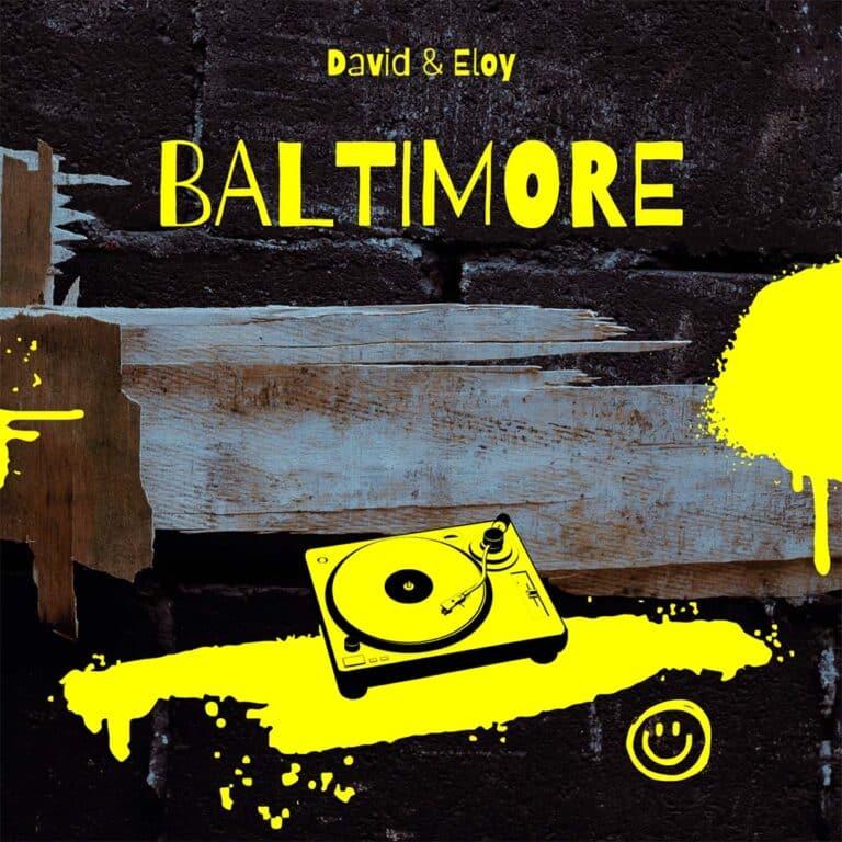 Zwart Geel Album Cover Met Illustratie Muziek Huis Bezoek